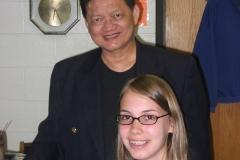 With beloved piano teacher, the late Emilio del Rosario, Summer 2005