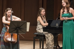 """Performance of Previn's """"Four Songs for soprano, cello and piano"""" with Emily Siar, soprano, and Valeriya Sholokhova, cello, Music Academy of the West, July 2013"""