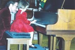 Piano recital at age 3 with first piano teacher, Joseph DeRiggi