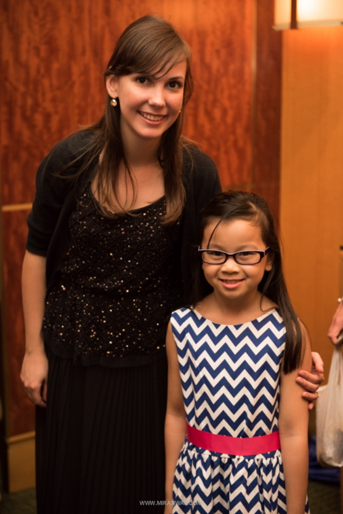 With student Julia Nguyen before Carnegie Hall performance
