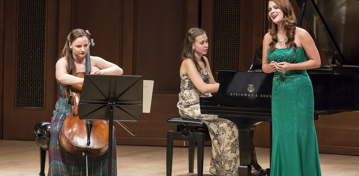 "Performance of Previn's ""Four Songs"" with Emily Siar, soprano and Valeriya Sholokhova, cello, July 2013"
