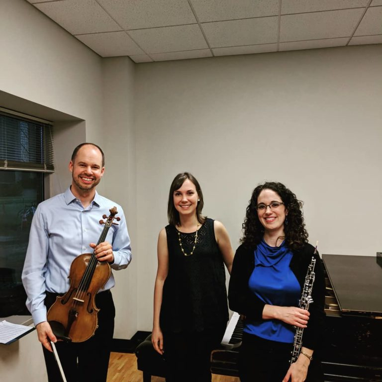 Loeffler Trio with LSM faculty Thomas Bandar, viola and Courtney Miller, oboe, 2018