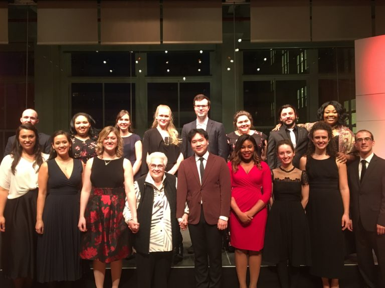 The Song Continues participants at Carnegie Hall with Marilyn Horne, January 2018